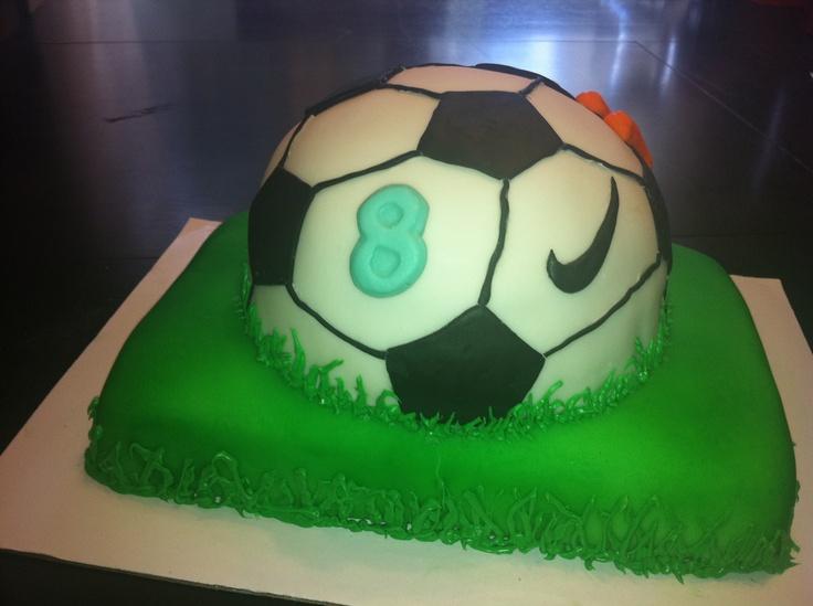 Soccer Nike cake