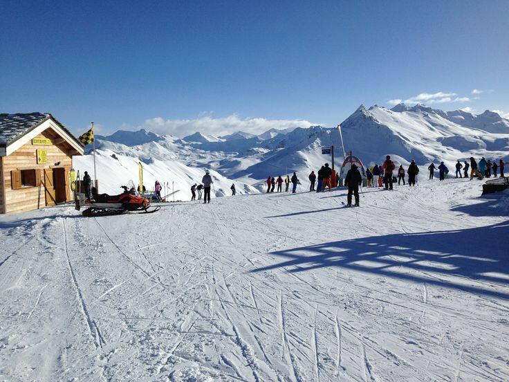 Au sommet des pistes, direction Val d'isère ou Tignes...