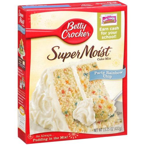 Betty Crocker Cake Mix Cookies Rainbow Chip