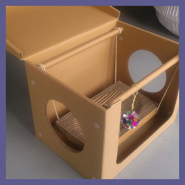PERFECT CARDBOARD CAT HOUSE FOR DKCH131113