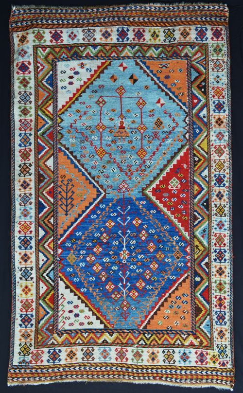 qashqai gabbeh 3rd quarter 19th c tribal rugvintage