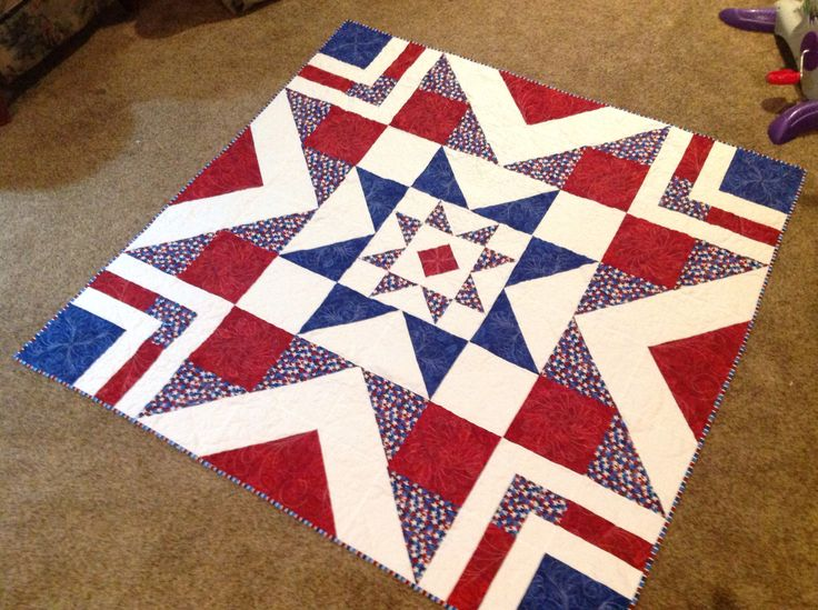 Patriotic Triple Barn Star for the Wounded Warrior Foundation.