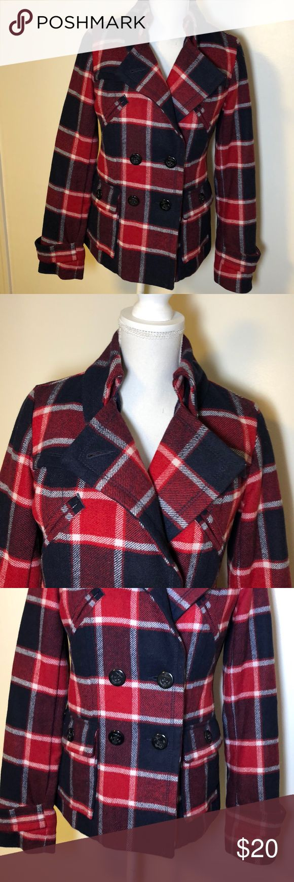 American Eagle Outfitters Button Up Jacket Plaid American Eagle Outfitters Women's size Small Button Up Jacket. Good condition, no rips or stains from a smoke free home! Same or next business day shipping on all purchases! American Eagle Outfitters Jackets & Coats