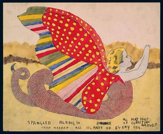 Spangled Blengin, Edible All Nations of Christian Nature. All Islands of Every Sea by Henry Darger, 1940s-1960s