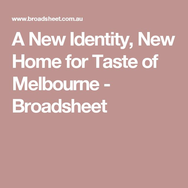 Taste of Melbourne - Start of Dec. Book tickets