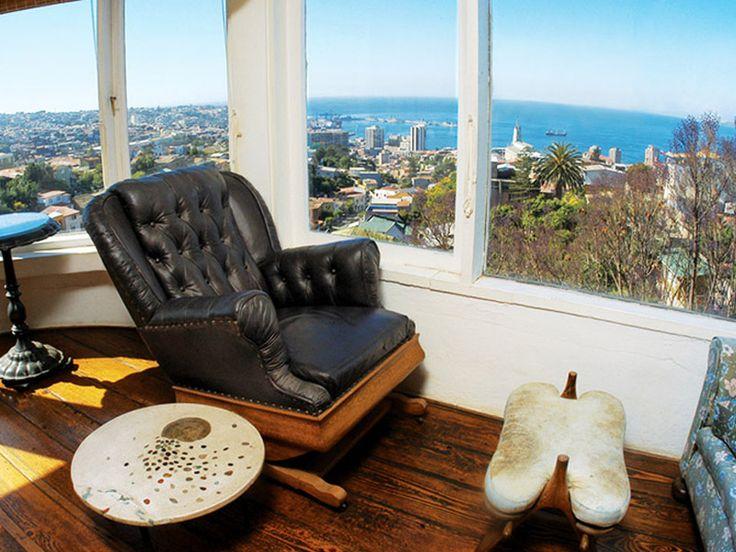 Pablo Neruda's house (La Sebastiana) in Valparaiso, Chile