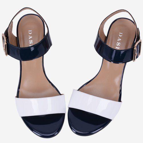 Sandale navy cu alb din piele naturala Lety
