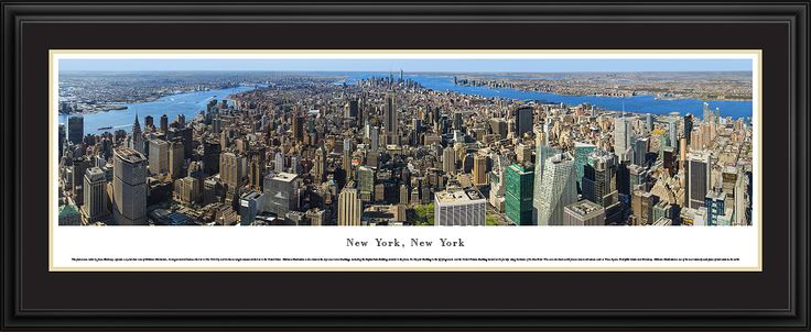 New York Midtown Manhattan City Skyline Panoramic Pictures & Posters