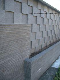 Pagar Rumah Tembok Batu Alam Persegi