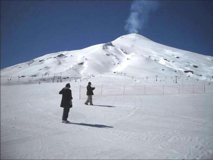 Trekking active Villarrica Volcano