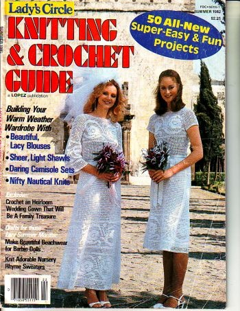 Lady's circle magazine, knitting and crocheting summer 1982, available at http://www.buggsbooks.com