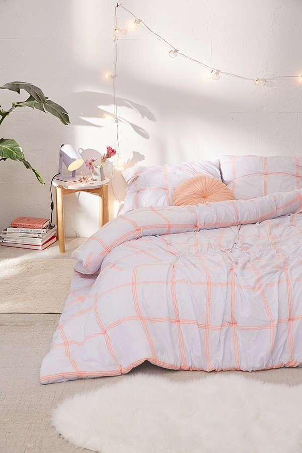 Checks + Ties Comforter | Urban Outfitters  #teengirlbedroomideasurbanoutfitters