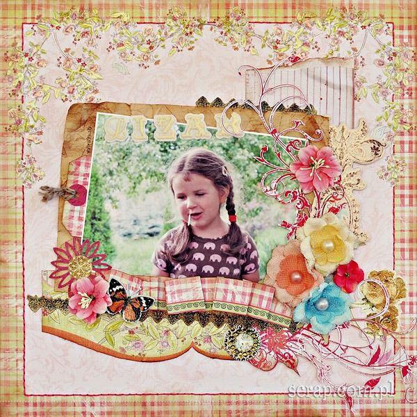 Piękny dziewczęcy scrap cieniowany tuszami jasnobrązowym i brązowym  http://www.hurt.scrap.com.pl/tusz-pigmentowy-do-stempli-jasnobrazowy.html http://www.hurt.scrap.com.pl/tusz-pigmentowy-do-stempli-i-embossingu-brazowy.html