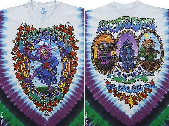 Grateful Dead Tie Dye Short Sleeve Shirt  by sherrishempdesigns