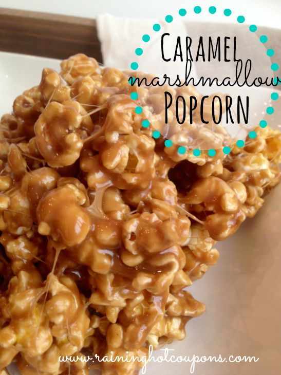 Caramel Marshmallow Popcorn Recipe - This stuff is ADDICTING!!!! (Click Image)