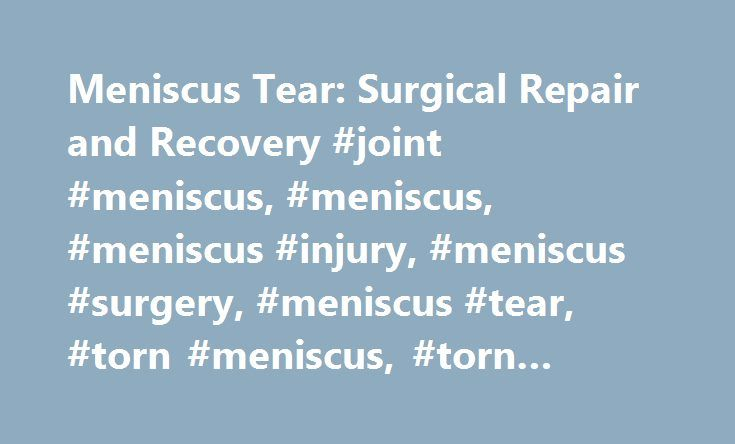 how to fix meniscus tear without surgery