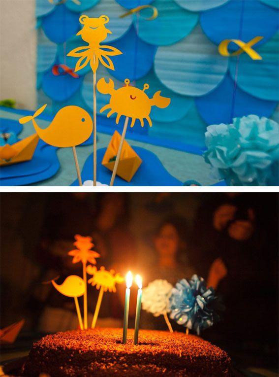 Festa com tema fundo do mar