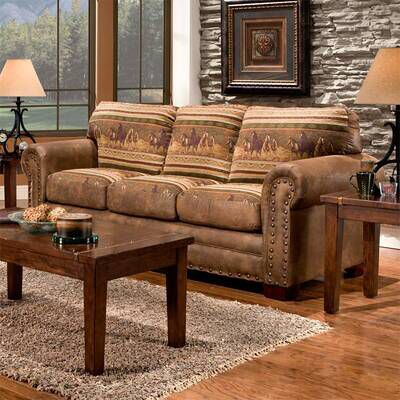 Best Charlie Alpine Sleeper Lodge 4 Piece Sleeper Living Room 400 x 300