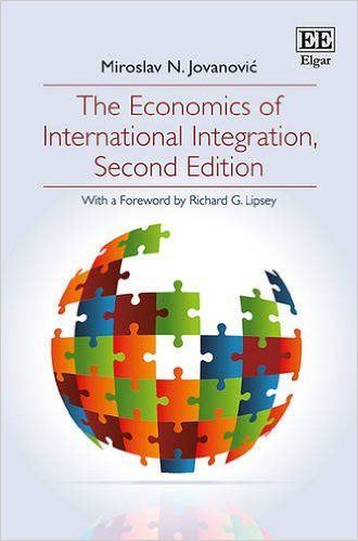 The economics of international integration (EBOOK) http://www.elgaronline.com/view/9781781954522.xml In this comprehensive second edition of The Economics of International Integration, Miroslav N. Jovanović examines the theory of international economic integration and explores the existing and emerging international integration agreements, their achievements, problems and prospects.