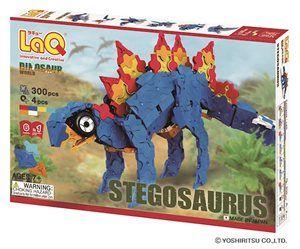 LaQ Dinosaur World Stegosaurus - Bygg en mäktig dinosaurie med rörlig svans eller någon annan av de 6 modeller som följer med i förpackningen, förutom de 304 byggbitarna. Från 5 år.