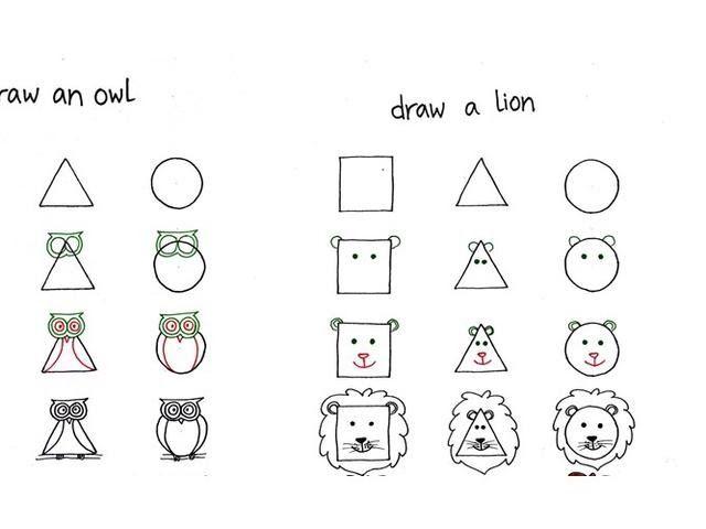 Contoh Gambar Hewan Simple Mari Menggambar 10 Hewan Dari Persegi Segitiga Dan Lingkaran Hewan Avertebrata Klasifikasi Ciri Con Gambar Hewan Gambar Hewan