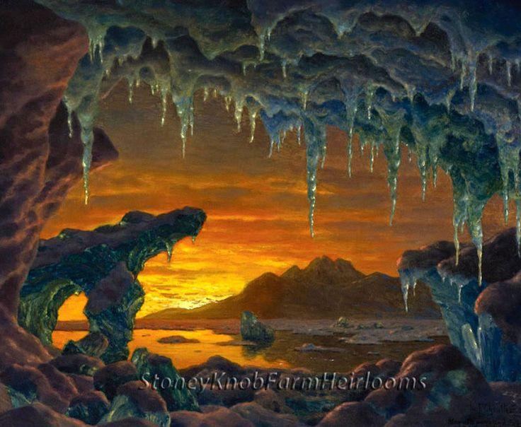 Arctic Grotto ~ Landscapes ~ Cross Stitch Pattern #StoneyKnobFarmHeirlooms #Frame