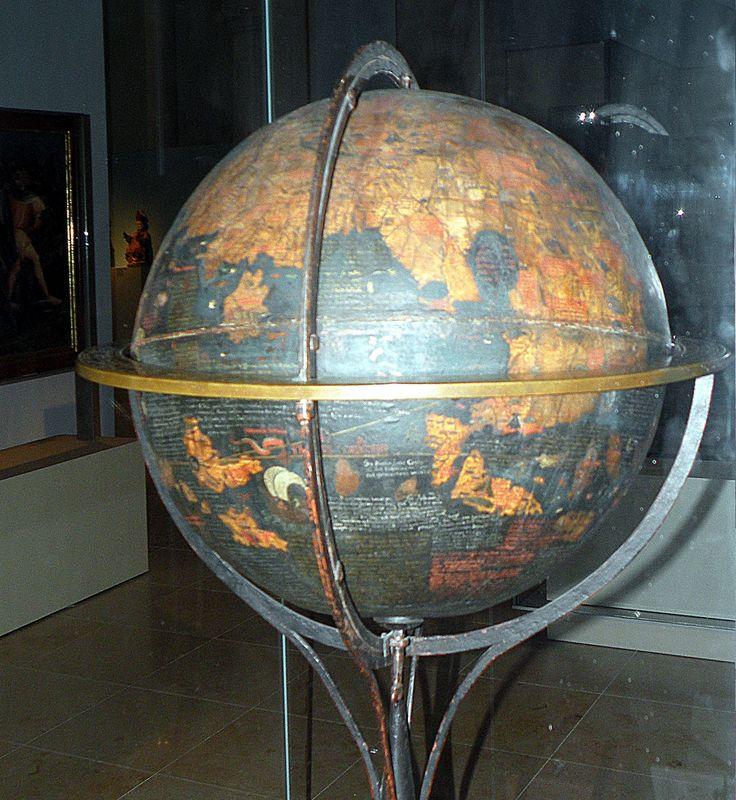 Behaim globe papier mache sphere and parchment