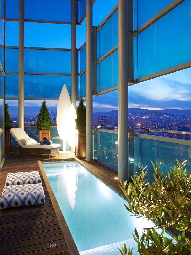 molins interiors // jacuzzi - terraza - ático - iluminación exterior
