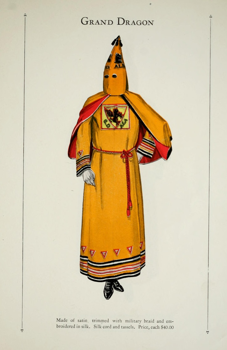 Catalogue of Offical Robes and Banners by the Ku Klux Klan - Retronaut