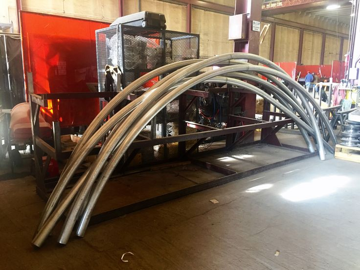 """Rolled 3"""" Schedule 40 304 Stainless Steel pipes- we can bend stainless steel, carbon steel, and aluminum pipes/tubes at Longero.  #Longero #stainlesssteelpipebending  www.Longero.com"""