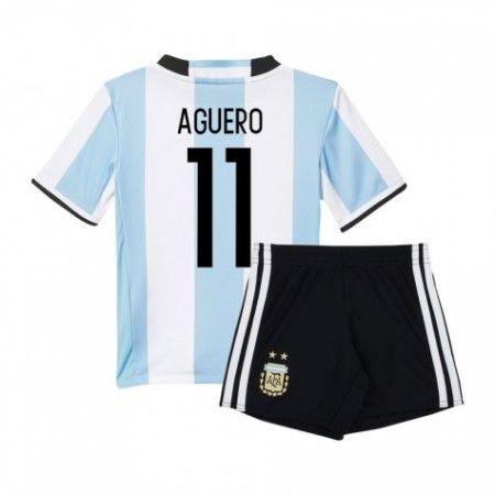 Argentina Trøje Børn 2016 Sergio #Aguero 11 Hjemmebanetrøje Kort ærmer.199,62KR.shirtshopservice@gmail.com