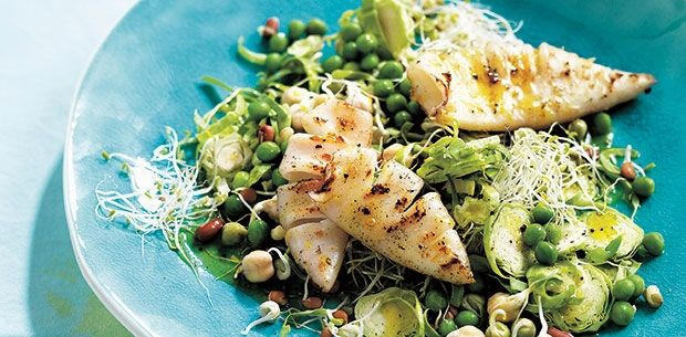 Another winner from Michelle Bridges! This recipe has got to be one of the easiest meals around. Plus it has peas, fresh seafood and sprouts.
