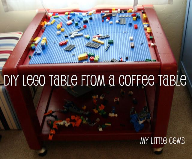 Lego table from coffee table