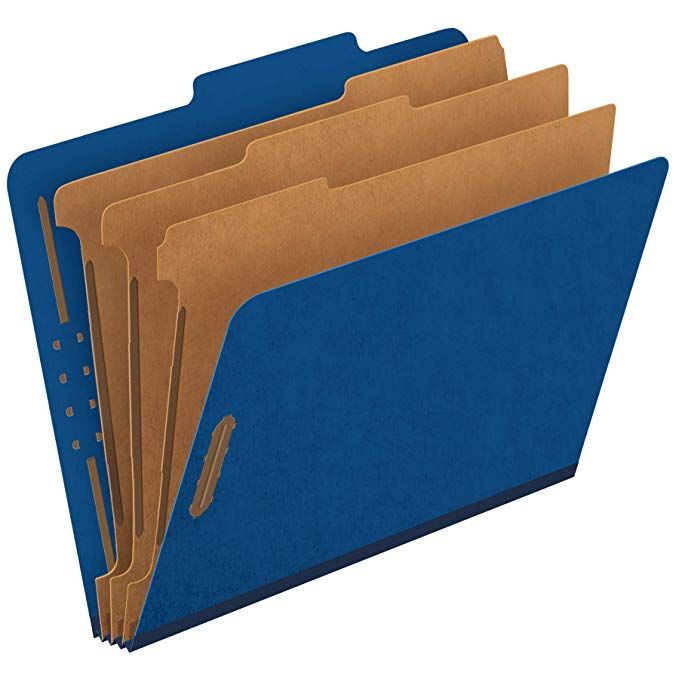 Designed for Office and Classroom Use 25 Pack Colored 2 Pocket 3 Prong Folders Blue Summit Supplies 25 Two Pocket Folders with Prongs Dark Blue