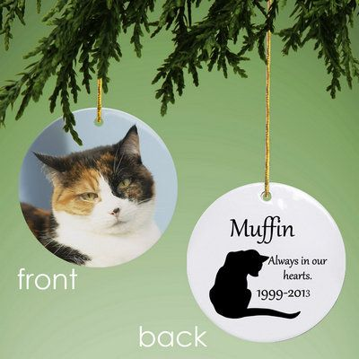 Cat Memorial Personalized Photo Ornament