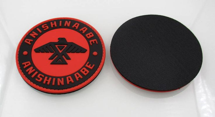 PVC Emblem  Size: 3 inch round  Waterproof and easy to clean. Can withstand cold temperatures and harsh outdoor use.  Note: PVC Emblem with velcro backing: Velcro hook and loop backing. Can be sewn-On   Note: PVC Emblem with no backing: You can add: Sticky back velcro,Double sided tape,or Adhesive magnet backing to emblem, for multi purpose application.