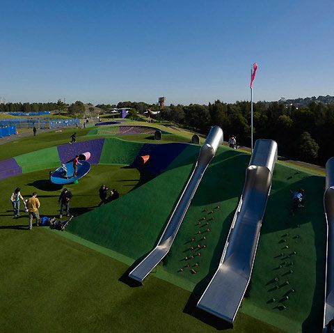 Sydney Olympic Park: Blaxland Riverside Park was officially opened on the 1st of June 2012. The new playground makes extensive use of landform to house a variety of play experiences and elements that caters for the entire family.