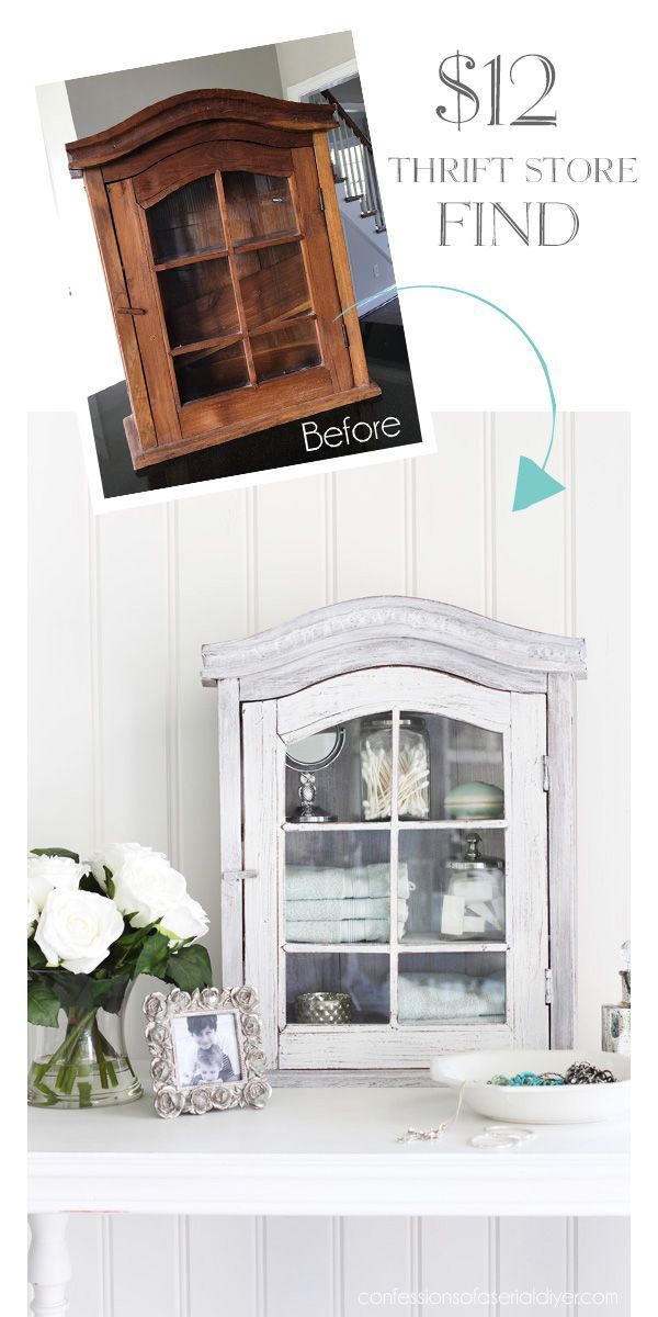 Rustic to Coastal Cabinet Makeover
