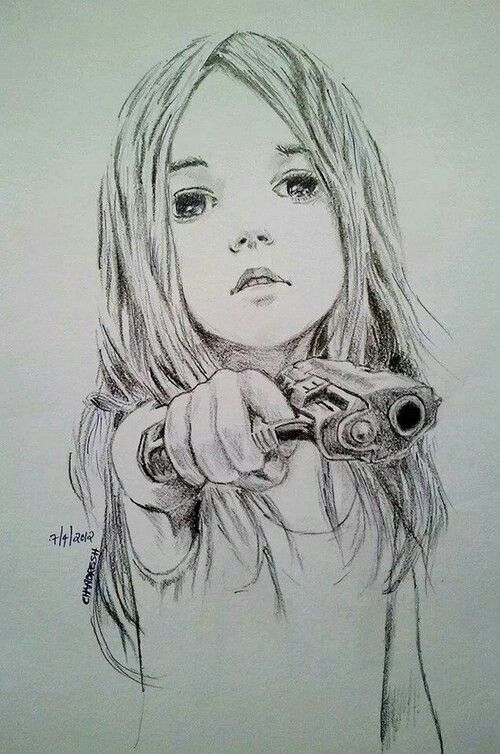 """I load the gun and point it at the person in front of me. They seem unafraid. """"Children shouldn't play with guns"""" they comment. """"Who said I was playing"""" I sneer, annoyed. (Rp?)"""