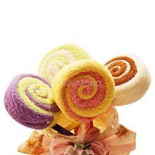 #cu3 washandje handdoek gift lollipop handdoek bruids baby shower bruiloft partij gunst(China (Mainland))