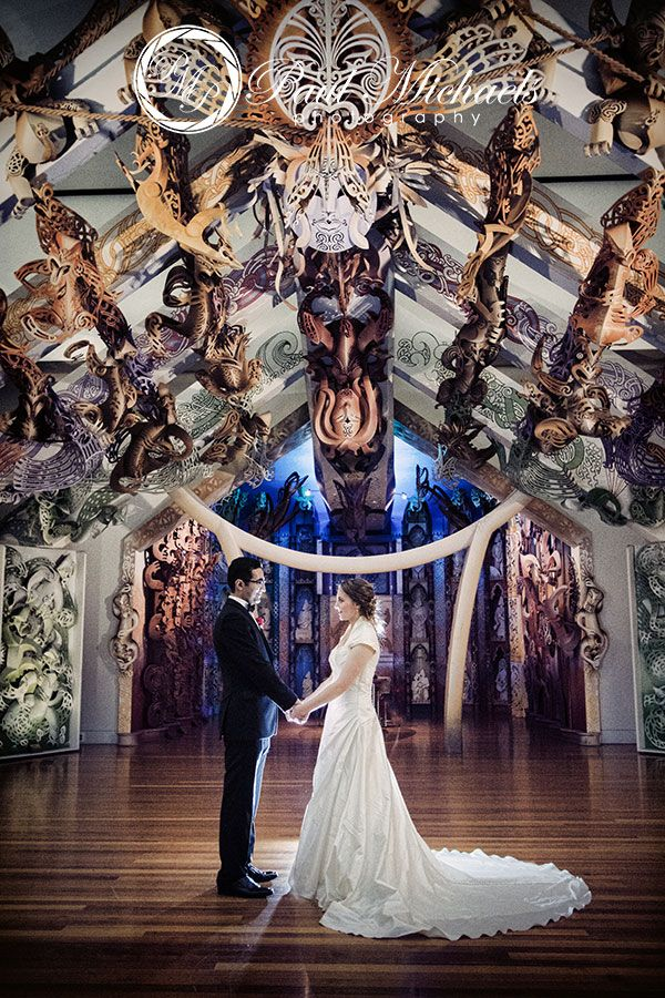 Wedding pictures at Te Marae, Wellington's TePapa museum. PaulMichaels Wellington wedding photography http://www.paulmichaels.co.nz/