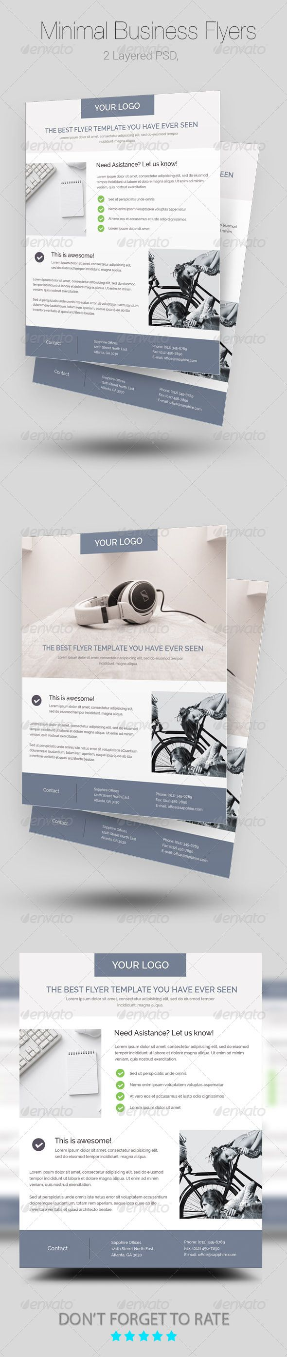 Minimal Business Flyer/Poster Templates  - Corporate Flyers