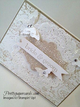 For details, visit prettypapercards.com #stampinup #stampinupcards #weddingcard