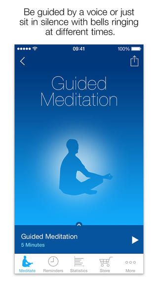 The Mindfulness App helps you to reduce stress and increase well being.