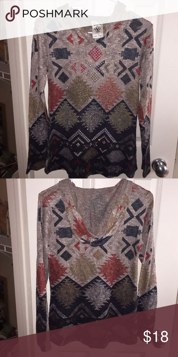 Aztec thin hoodie New never worn. Not available for trade Vocal Tops Sweatshirts & Hoodies
