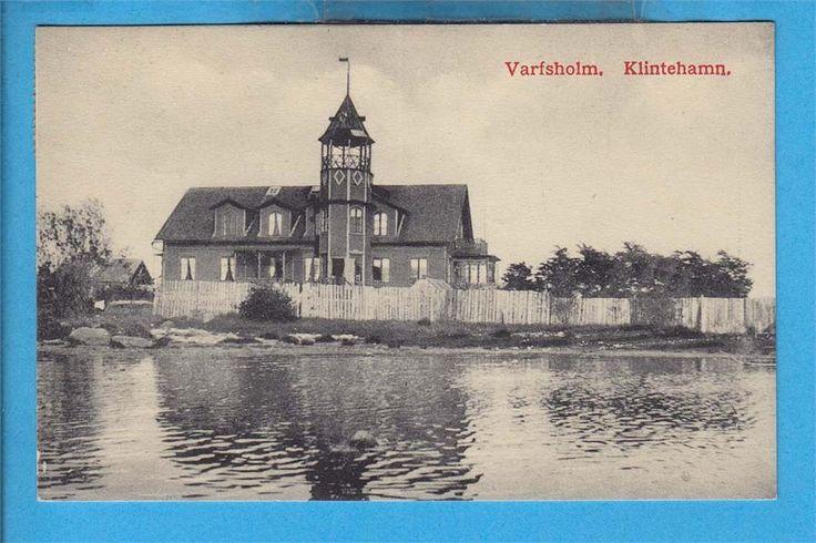 KLINTEHAMN. Varvsholm 1911 (Gotland) på Tradera.com - Vykort och bilder
