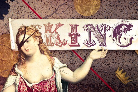 Le King Typeface by Misprinted Type on @creativemarket