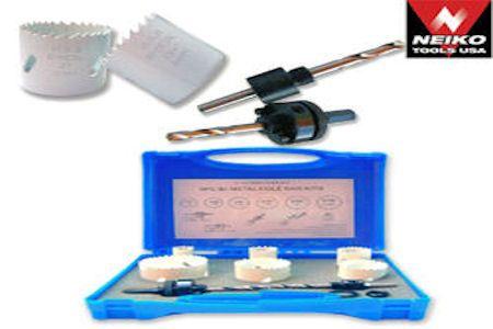 9 pc Electrician Bi-Metal Hole Saw Kit