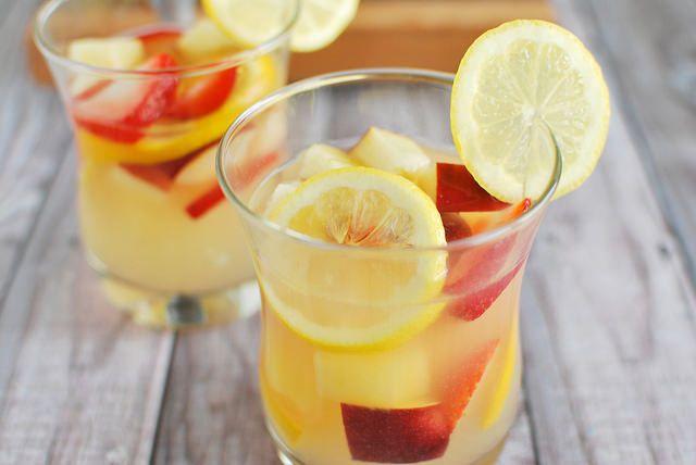 Pineapple Lemonade Sangria - Fake Ginger