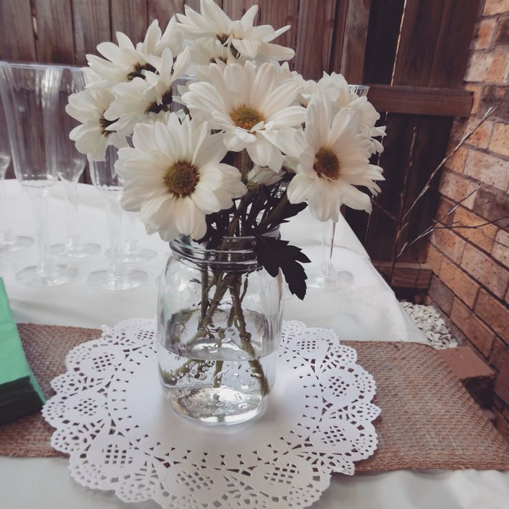 Engagement Party Decorations #engagement  #party  #floral #White #lace #decorations  #teal #tiffanyblue #lantern  #blue  #vintage #eventstyling #styling #daisy #flowers